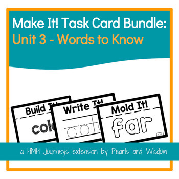 Make It! Task Cards - Journeys - Unit 3 Words to Know