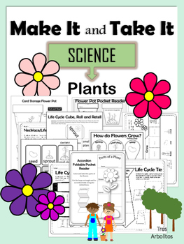 Make It and Take It Plant Parts and Life Cycle NO PREP Learning On the Go Pack!