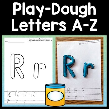 Alphabet Playdough Mats with Handwriting {26 Pages A-Z!}