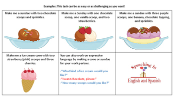 Make Me a Sundae!  {Following one - mutiple step directions} English