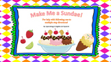 Make Me a Sundae!  {Following one - mutiple step direction
