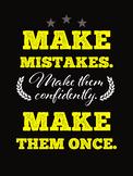 Make Mistakes Choir Poster