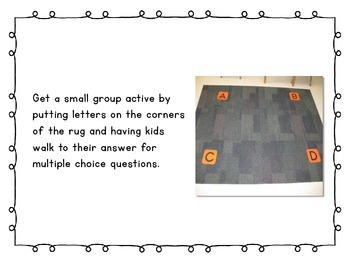 Make Multiple Choice Fun ~ A Collaborative Project full of Free Ideas!