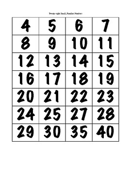 Make My Number - Muliplication Facts and Factors