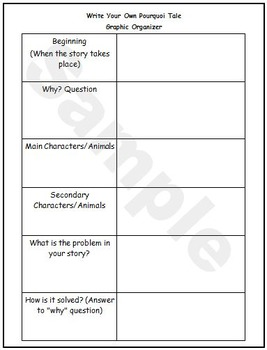"""Make My Own"" Pourquoi Tale Graphic Organizer"