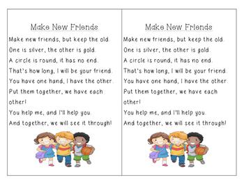 Make New Friends Poem