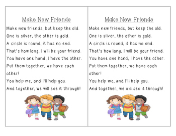 Make New Friends Poem