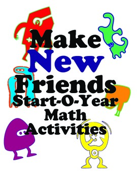 Icebreaker Math Activities for First & Second Graders: Make New Friends!