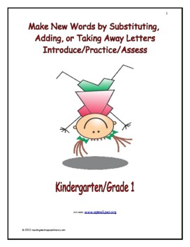 Make New Words by Sutstituting, Adding, or Taking Away Letters
