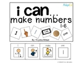 Make Numbers 1-12 Adapted Math Book Including Money and Time AUSTRALIA