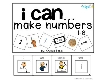 Make Numbers 1-12 Adapted Math Book Including Money and Ti