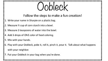 Make Oobleck Instructions