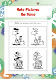Make Pictures the Same (Visual Perception Worksheets)