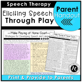 Make Playing at Home Count - A Parent Handout