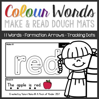 Make & Read: Colour Word Play Dough Mats