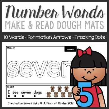Make & Read: Number Word Play Dough Mats