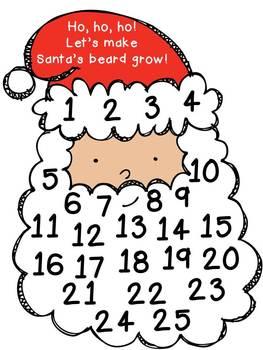 Make Santa's Beard Grow!  Holiday Freebie!