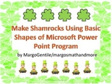 Make Shamrock Clip Art Using Microsoft Power Point Basic Shapes I