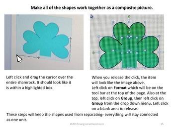 Make Shamrock Clip Art Using Microsoft Power Point Basic Shapes I
