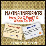 Make Some Inferences! 2 Flashcard Games for How Do I Feel? & When Is It?