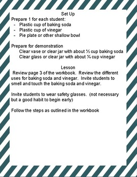 Make Something Bubble- Vinegar and Baking Soda Science Journal- Scouts Too