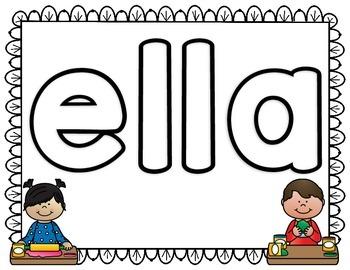Make Spanish Words Center Using Play-Dough SET#2
