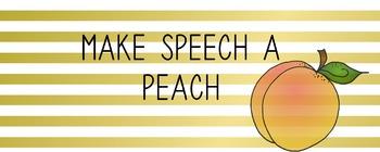 Make Speech A Peach Credit Logo