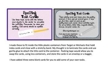 Make Spelling Fun Task Cards