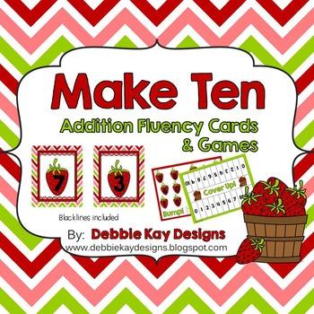 Make Ten!  Addition Fluency Cards & Games