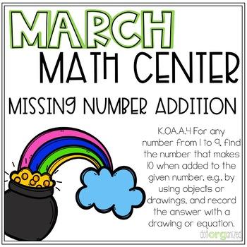 Make Ten Magic Addition Kindergarten March Math Center Task Cards
