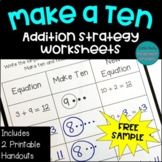 Make Ten Addition Strategy Worksheets