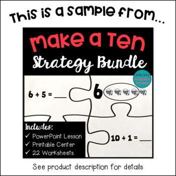 Make Ten Addition Strategy Worksheets