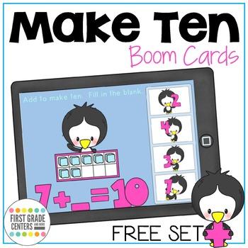 Make Ten Boom Cards Freebie
