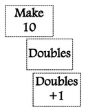 Make Ten, Doubles, and Doubles +1 Game!