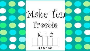 Make Ten Freebie- Color a ten frame with two colors to make ten.