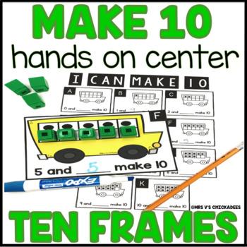 Make Ten Hands on Math Center with Ten Frames