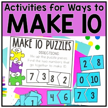 Make Ten Facts Games and Activities