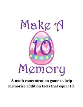 Make Ten Memory Game  {April}