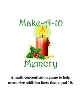 Make Ten Memory Game  {December}