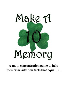 Make Ten Memory Game  {March}