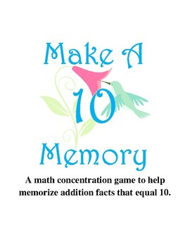 Make Ten Memory Game  {May}
