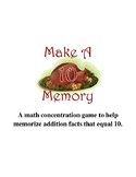 Make Ten Memory Game  {November}