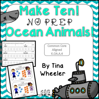 Make Ten NO PREP Ocean Animals