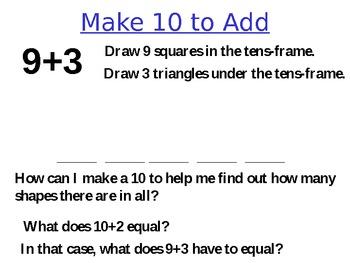 Make Ten to Add