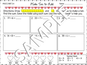 Make Ten to Add Go Math MACC.1.NBT.3.4