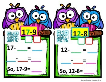 Make Ten to Subtract with QR Codes