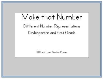 Make That Number Game - Number Representations - Kindergar