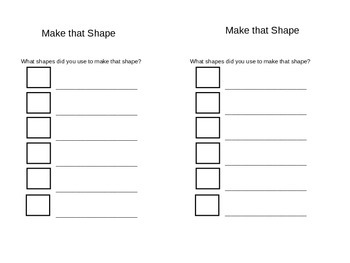 Make That Shape