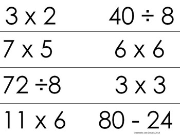 Equations and Inequalities All 4 Operations