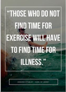 Make Time for Exercise Poster - Gr. 6-12 Physical Education, Health Education